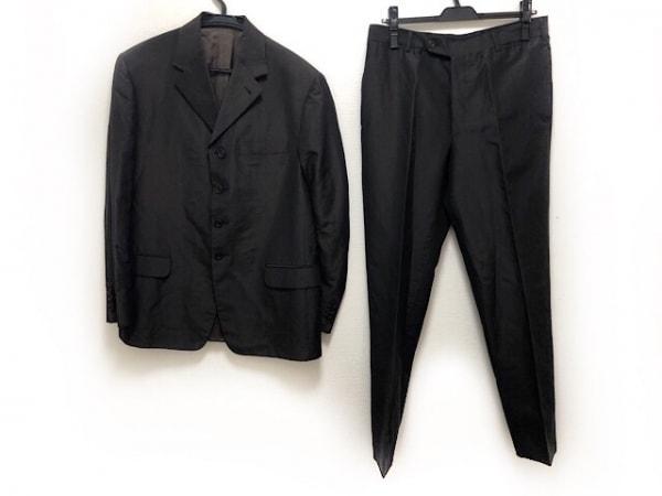PRADA(プラダ) シングルスーツ サイズ48 M メンズ美品  ダークブラウン