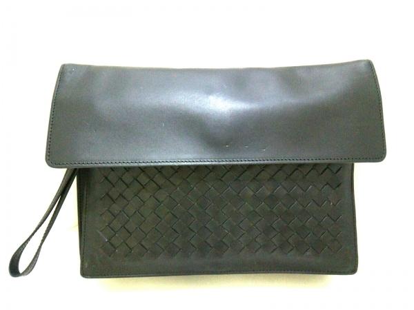 ボッテガヴェネタ クラッチバッグ イントレチャート B02726777M 黒 レザー