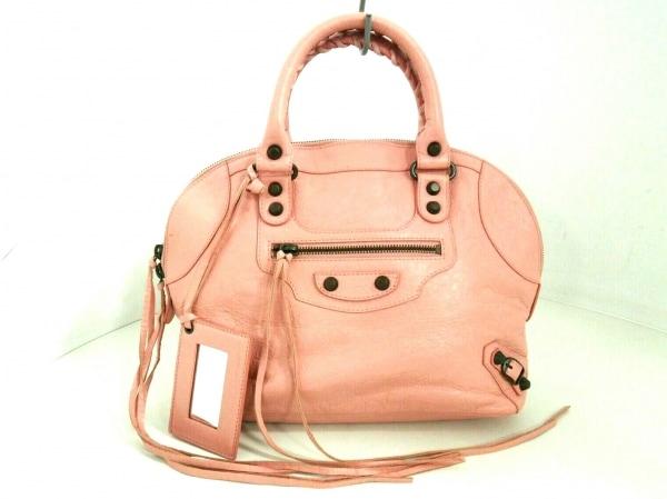 バレンシアガ ハンドバッグ美品  クラシックボーリング 319371 ピンク レザー