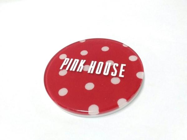PINK HOUSE(ピンクハウス) ミラー美品  レッド×白 ドット柄 プラスチック