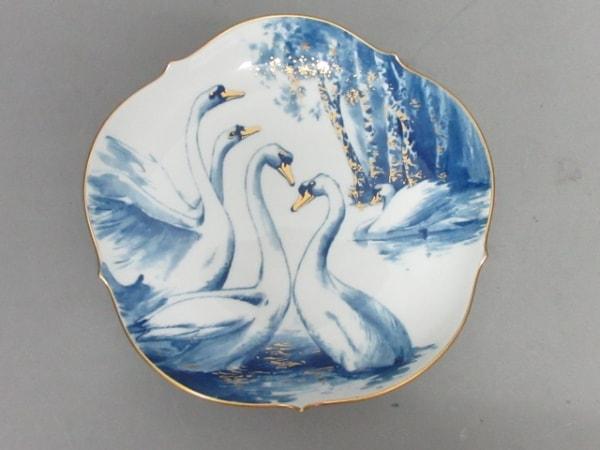 Meissen(マイセン) プレート新品同様  白×ライトブルー×ゴールド 白鳥 陶器