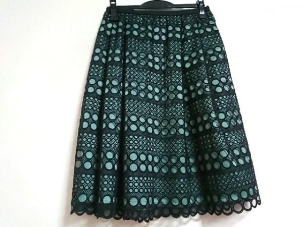Leilian(レリアン) スカート サイズ11 M レディース美品  黒×グリーン