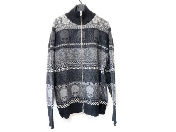 GEMMA.HUOMO(ジャンマアッカウォモ) 長袖セーター メンズ美品  黒×ダークグレー×白