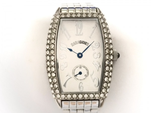 NARAGIOIE(ナラジョイエ) 腕時計 - レディース ラインストーンベゼル シルバー