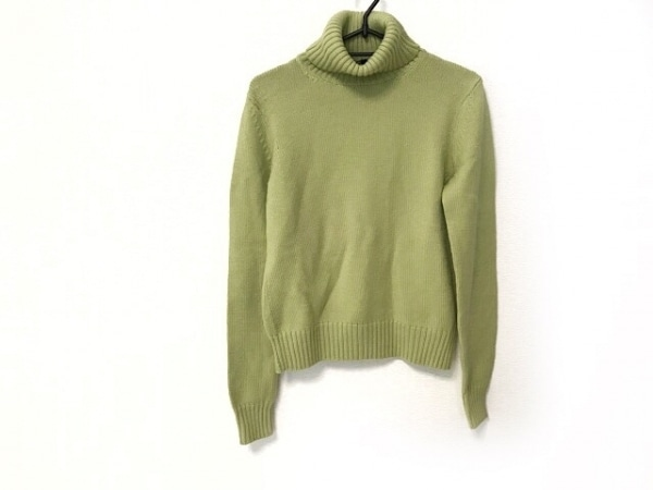 theory(セオリー) 長袖セーター サイズ4 S レディース ライトグリーン タートルネック