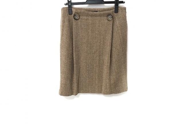 theory(セオリー) スカート サイズ2 S レディース美品  ブラウン ツイード