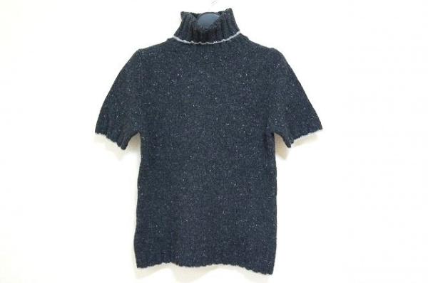 23区(ニジュウサンク) 半袖セーター サイズ38 M レディース美品  黒×ピンク×グレー