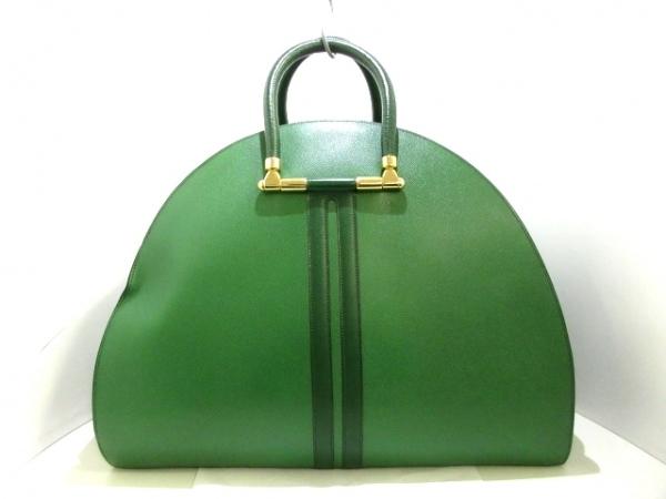 エルメス ボストンバッグ - グリーン×ダークグリーン ゴールド金具 クシュベル