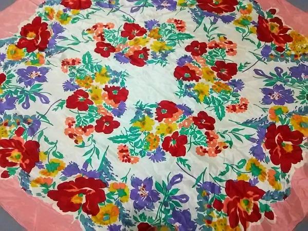 JILL STUART(ジルスチュアート) スカーフ アイボリー×ピンク×マルチ 花柄