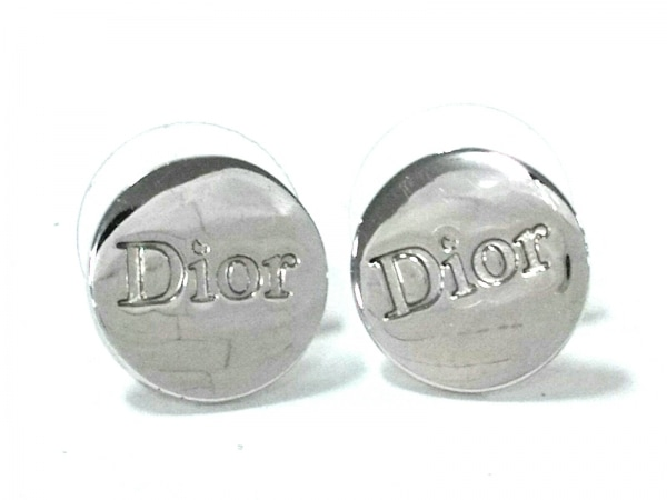 ChristianDior(クリスチャンディオール) ピアス美品  金属素材 シルバー Diorモチーフ