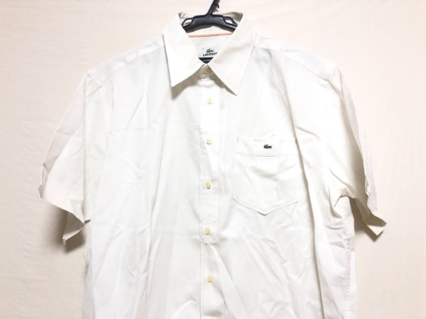 Lacoste(ラコステ) 半袖シャツ サイズ5 XL メンズ 白