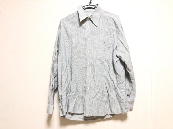 Lacoste(ラコステ) 長袖シャツ メンズ 白×黒