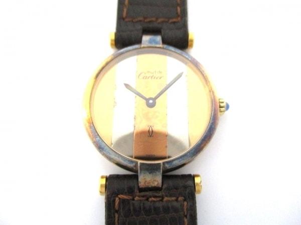 カルティエ 腕時計 ヴァンドーム - レディース 925/リザードベルト スリーカラー