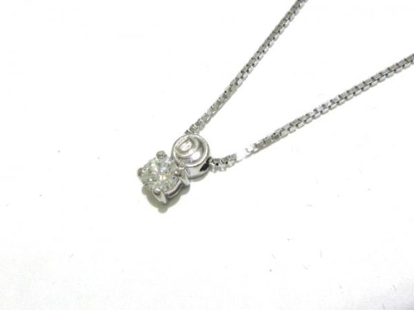 7b591325565f DAMIANI(ダミアーニ) ネックレス美品 グリフ ロゴ ネックレス K18WG×ダイヤモンド