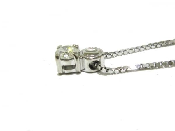 2296f826b1cb ... DAMIANI(ダミアーニ) ネックレス美品 グリフ ロゴ ネックレス K18WG×ダイヤモンド ...