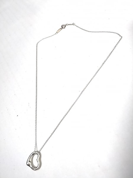 TIFFANY&Co.(ティファニー) ネックレス美品  オープンハート シルバー