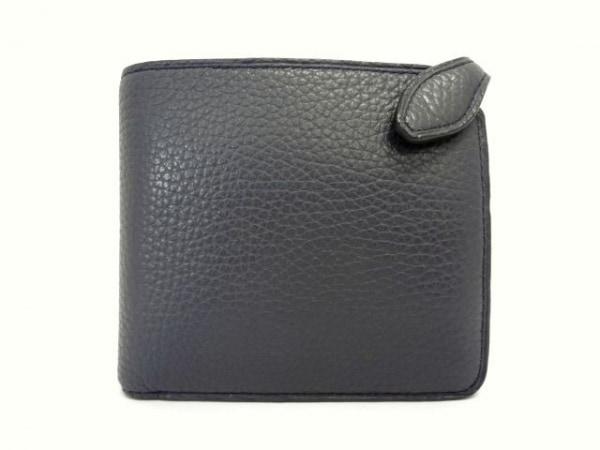 GALLERIANT(ガレリアント) 2つ折り財布 ネイビー レザー