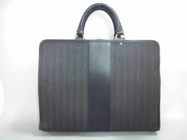 FIVEWOODS(ファイブウッズ) ビジネスバッグ美品  黒 ジャガード×レザー