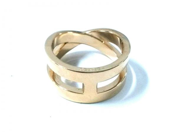 HERMES(エルメス) スカーフリング美品  リュバン 金属素材 ゴールド