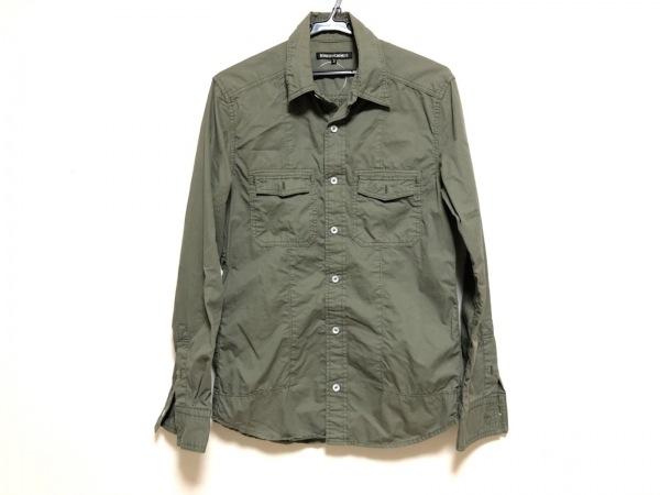 5351 PourLesHomme(5351プールオム) 長袖シャツ サイズ3 L メンズ ダークグリーン