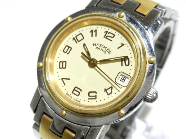 HERMES(エルメス) 腕時計 クリッパー CL4.220 レディース アイボリー