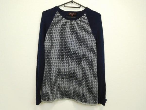 フィロディセタ 長袖セーター サイズ40 M レディース美品  ネイビー×グレー