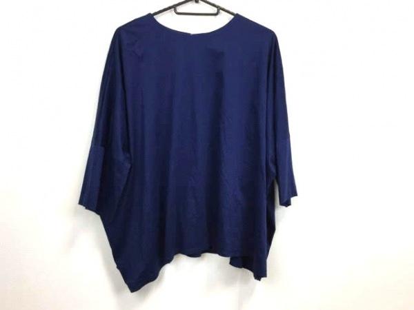 シンクロクロシング 七分袖カットソー サイズ36 S レディース美品  ブルー