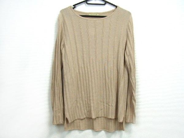 シンクロクロシング 長袖セーター サイズ38 M レディース美品  ベージュ