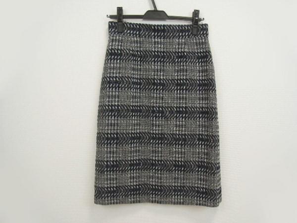 AMACA(アマカ) スカート サイズ36 S レディース美品  ネイビー×グレー×白