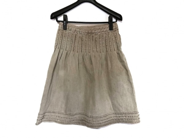 TO BE CHIC(トゥービーシック) スカート サイズ40 M レディース美品  ブラウン
