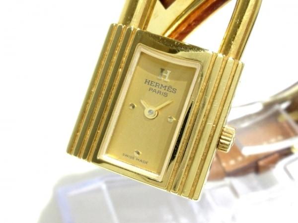 HERMES(エルメス) 腕時計 ケリーウォッチ - レディース 革ベルト/□B ゴールド