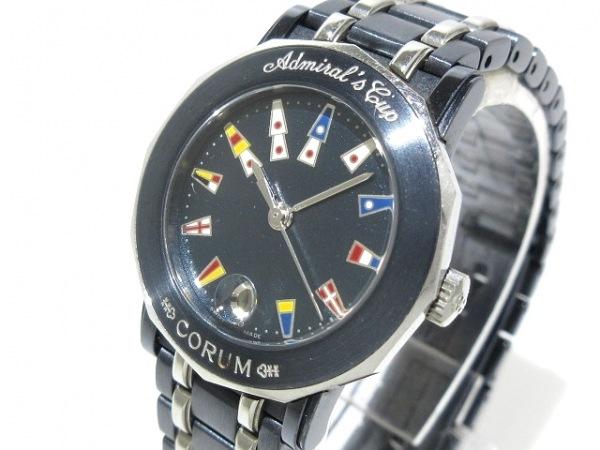 CORUM(コルム) 腕時計 アドミラルズカップ 39.130.30 V585 レディース ネイビー