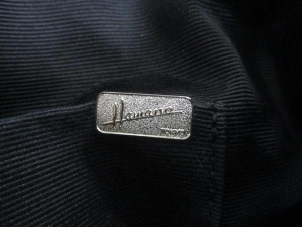 Hamano(ハマノ) ハンドバッグ 黒 ジャガード×レザー
