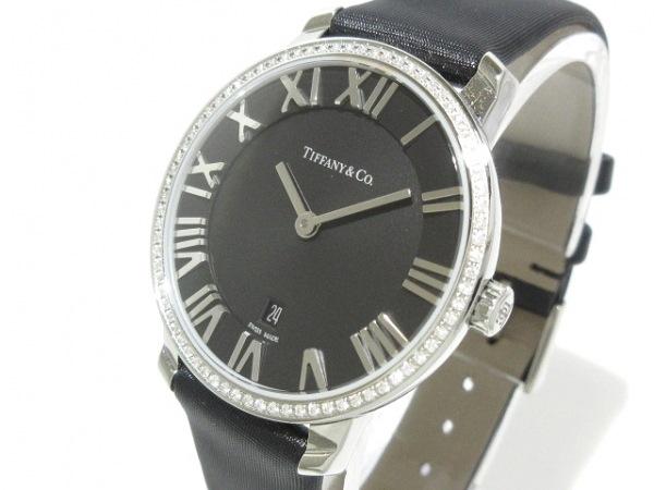 ティファニー 腕時計美品  アトラス - レディース ダイヤモンドベゼル/サテンベルト