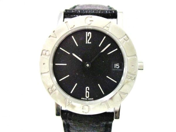 BVLGARI(ブルガリ) 腕時計美品  ブルガリブルガリ BB30SLD レディース 革ベルト 黒