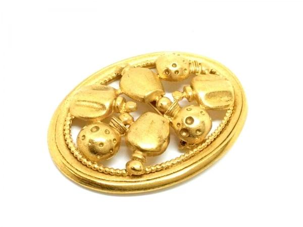 Dior Parfums(ディオールパフューム) ブローチ美品  金属素材 ゴールド