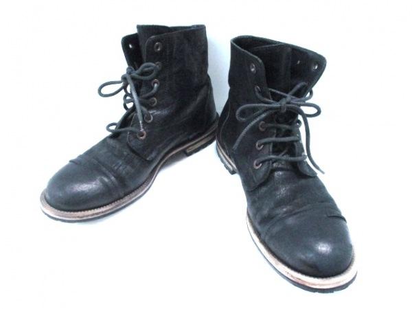 DOLCE&GABBANA(ドルチェアンドガッバーナ) ショートブーツ 9 メンズ 黒 レザー