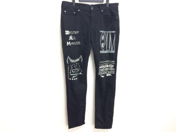 ジーヒステリック トリプルエックス パンツ サイズ34 S メンズ 黒×白