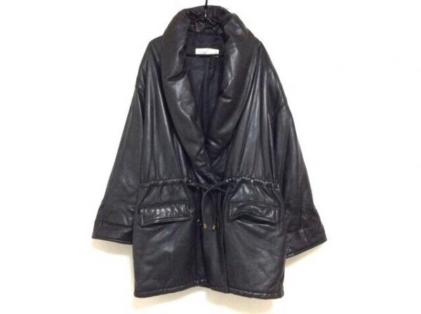 Max Mara(マックスマーラ) コート サイズ44 L レディース 黒 冬物/レザー