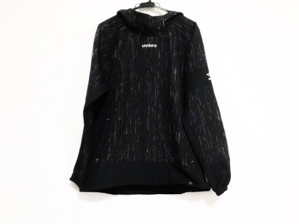 UMBRO(アンブロ) パーカー サイズL メンズ美品  黒×レッド×マルチ