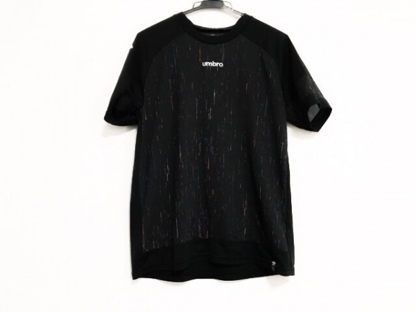 UMBRO(アンブロ) 半袖Tシャツ サイズL メンズ美品  黒×レッド×マルチ