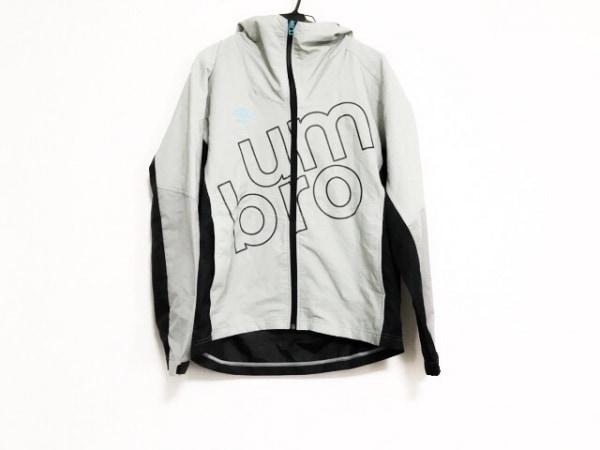 UMBRO(アンブロ) パーカー サイズL メンズ美品  グレー×黒 ジップアップ