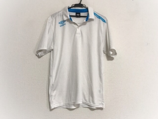 UMBRO(アンブロ) 半袖ポロシャツ サイズL レディース美品  白×ブルー