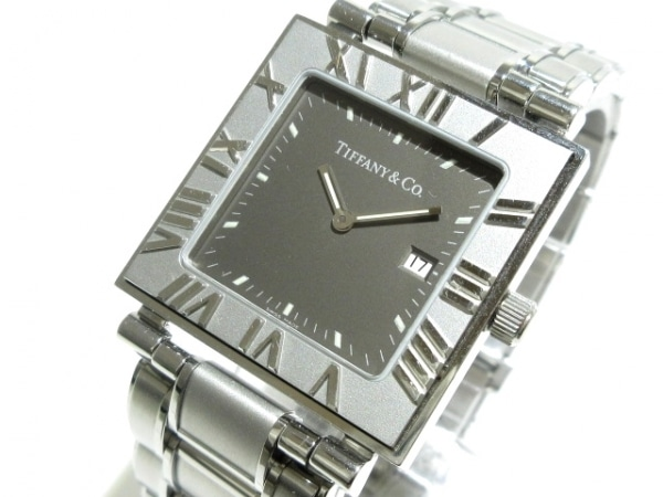 TIFFANY&Co.(ティファニー) 腕時計 アトラススクエア - メンズ ダークグレー
