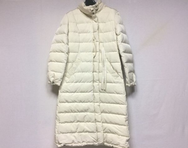 KENZO(ケンゾー) ダウンコート サイズ40 M レディース美品  アイボリー 冬物/ロング丈