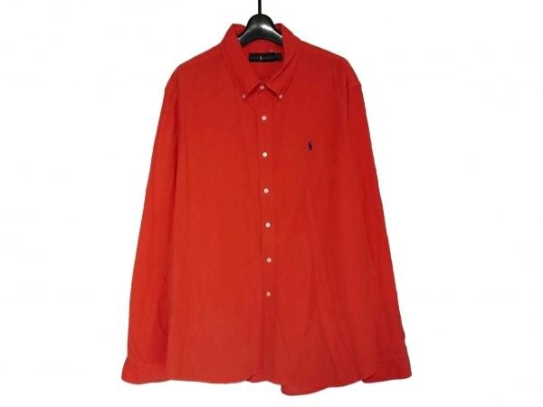 RalphLauren(ラルフローレン) 長袖シャツ サイズXXL XL メンズ オレンジ