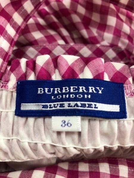 バーバリーブルーレーベル ワンピース サイズ36 S レディース美品  ピンク×白