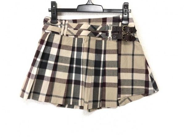バーバリーブルーレーベル スカート サイズ38 M レディース美品  チェック柄