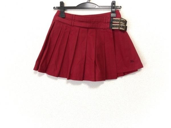 バーバリーブルーレーベル スカート サイズ36 S レディース美品  レッド