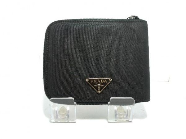 PRADA(プラダ) 2つ折り財布 - 黒 ラウンドファスナー ナイロン